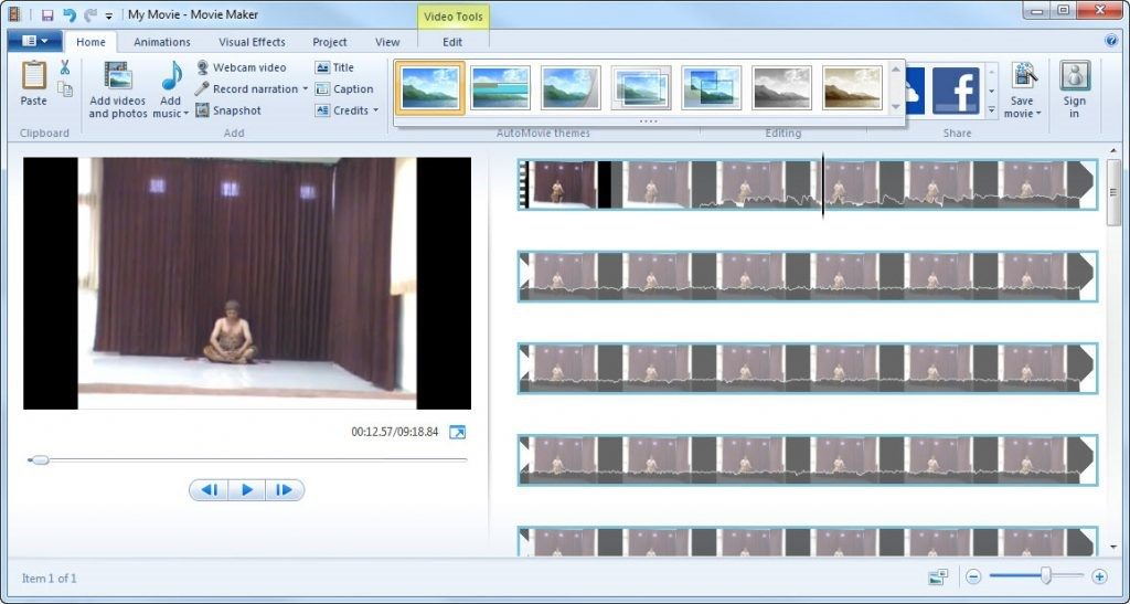 aplikasi edit video gratis Windows Movie Maker